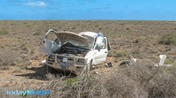 Crashed vehicle